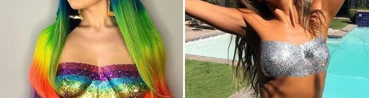 64cc6d4579f838 Glitter swimwear is the latest festival trend to hit Instagram… but would  YOU be bold enough to try it?